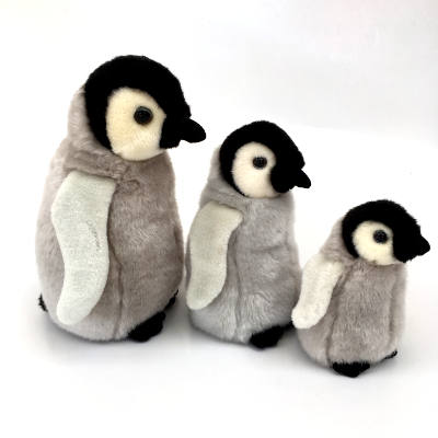 Penguin baby Grey Large 35cm